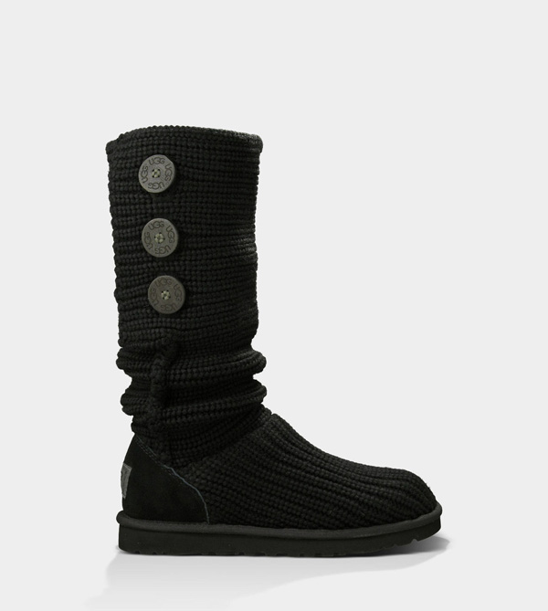 UGG WOMENS CLASSIC CARDY BLACK