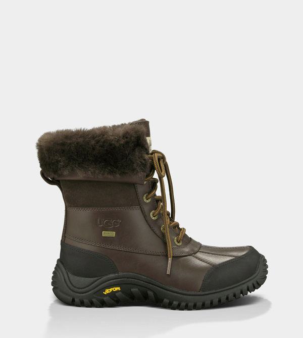UGG WOMENS ADIRONDACK BOOT II - LEATHER OBSIDIAN