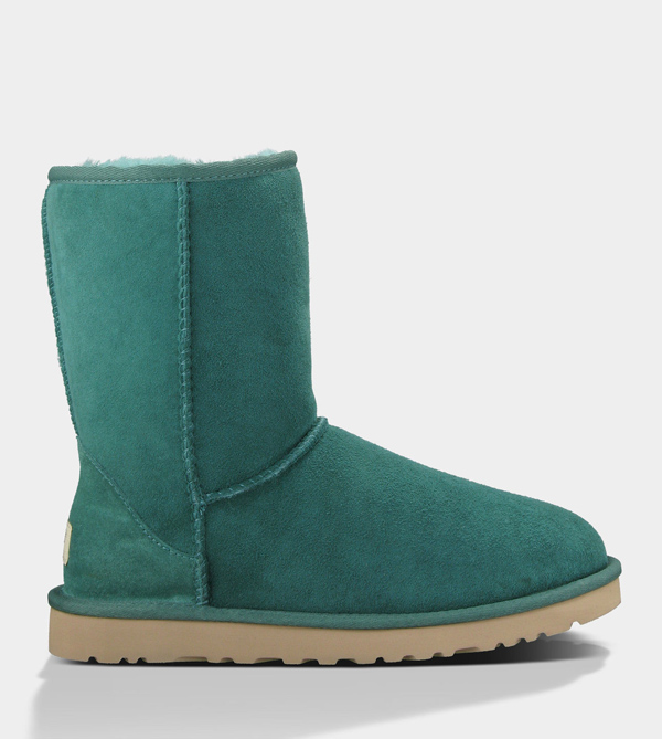 UGG WOMENS CLASSIC SHORT BILLIARD GREEN