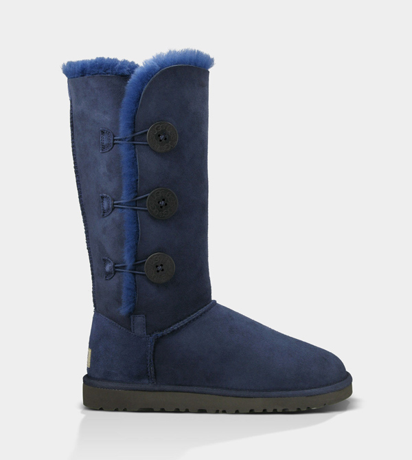 UGG WOMENS BAILEY BUTTON TRIPLET NAVY