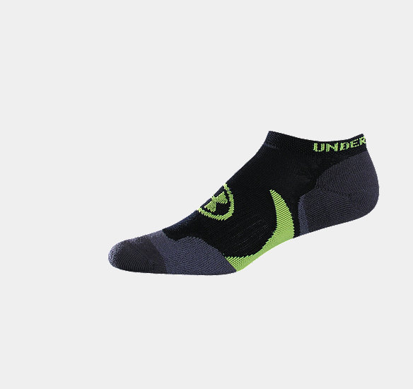 UNDER ARMOUR MEN CATALYST NO SHOW SOCKS BLACK
