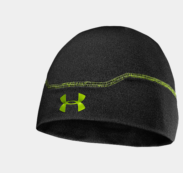 UNDER ARMOUR MEN COLDGEAR INFRARED STEALTH BEANIE ASPHALT HEATHER