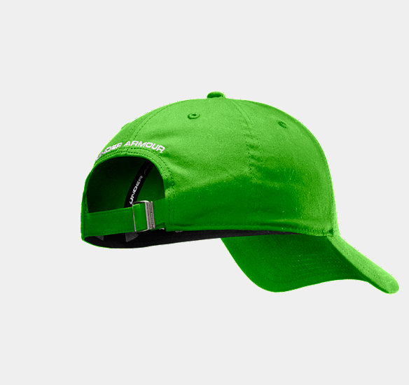 UNDER ARMOUR MEN CHARGED COTTON ADJUSTABLE CAP PARROT GREEN