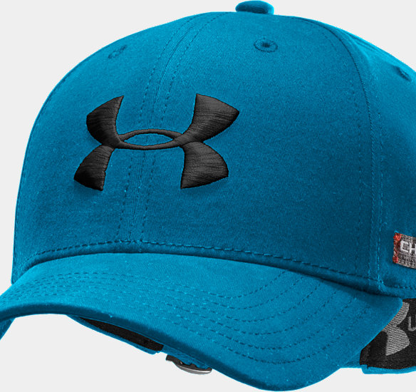 UNDER ARMOUR MEN CHARGED COTTON ADJUSTABLE CAP WHITESNORKEL