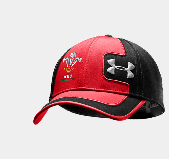 UNDER ARMOUR WRU SIDELINE STRETCHFIT CAP BLACK