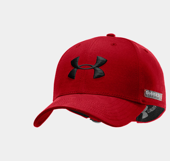 UNDER ARMOUR MEN CHARGED COTTON ADJUSTABLE CAP RED