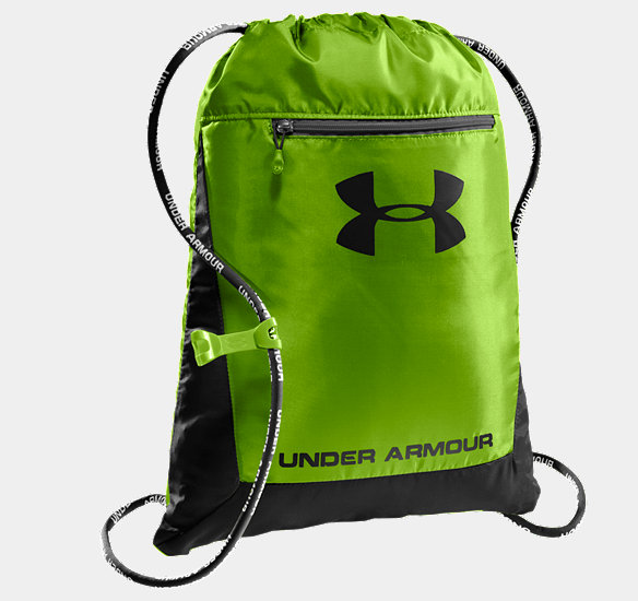 UNDER ARMOUR HUSTLE SACKPACK HYPER GREEN