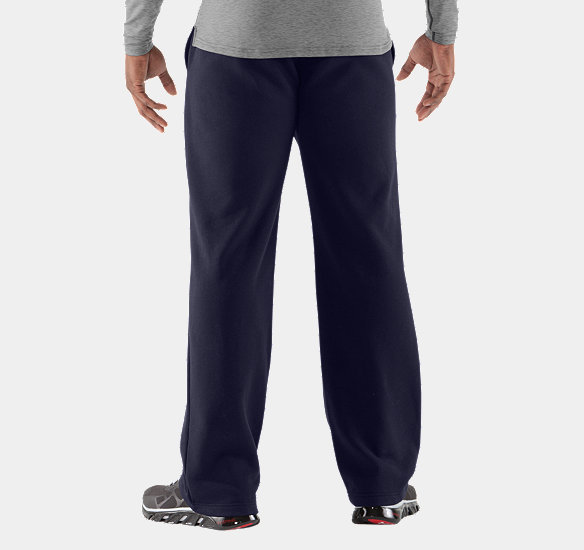 UNDER ARMOUR MEN CHARGED COTTON STORM TRANSIT PANTS MIDNIGHT NAVY