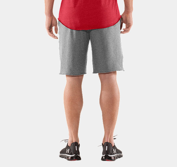 UNDER ARMOUR MEN CHARGED COTTON CONTENDER SHORT TRUE GRAY HEATHER