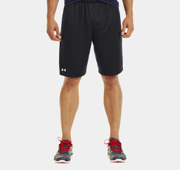 "UNDER ARMOUR MEN MICRO SOLID 10"" SHORTS BLACK"