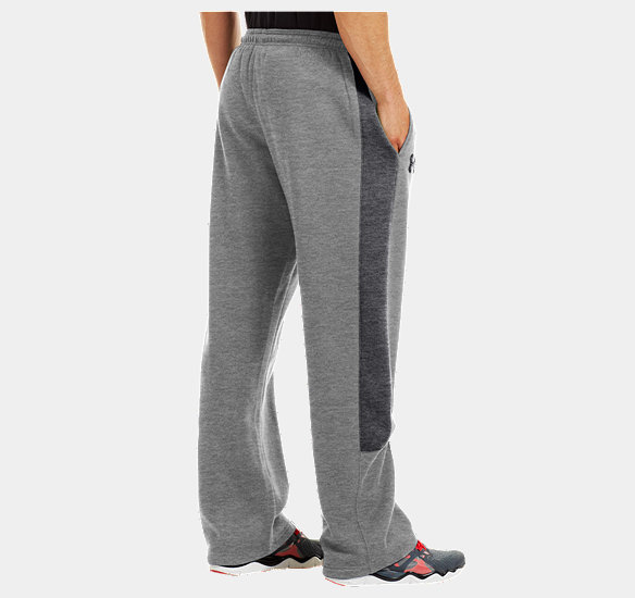 UNDER ARMOUR MEN CHARGED COTTON STORM PANTS TRUE GRAY HEATHER
