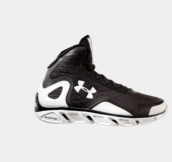 UNDER ARMOUR MEN SPINE BIONIC BASKETBALL SHOES BLACK