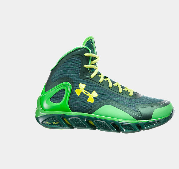 UNDER ARMOUR MEN SPINE BIONIC BASKETBALL SHOES PARROT GREEN