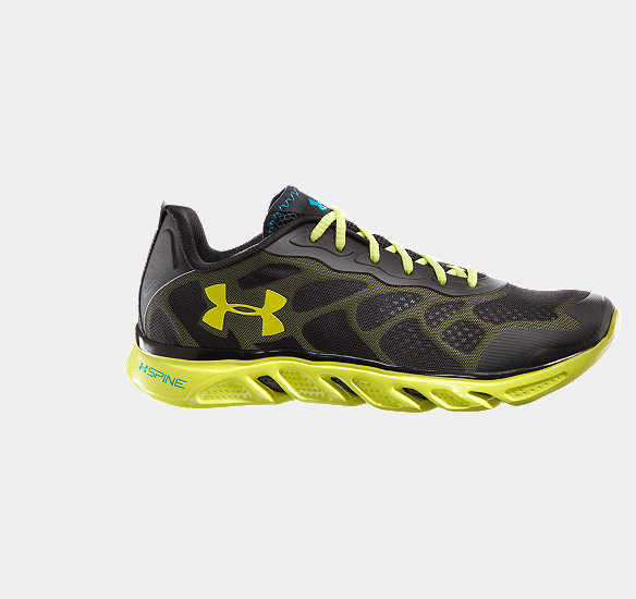 UNDER ARMOUR MEN SPINE VENOM RUNNING SHOES BLACK