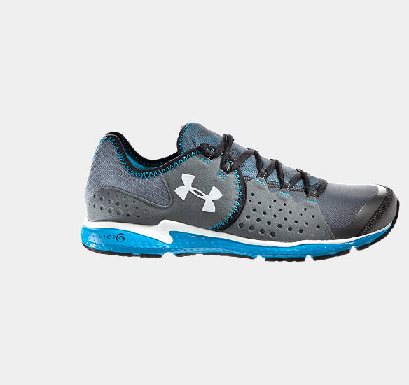 UNDER ARMOUR MEN MICRO G MANTIS RUNNING SHOES CHARCOAL