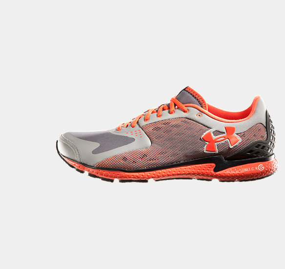 UNDER ARMOUR MEN MICRO G RUNNING SHOES STEEL
