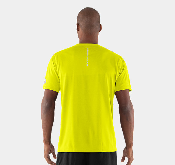 UNDER ARMOUR MEN ESCAPE T-SHIRT HIGH-VIS YELLOW