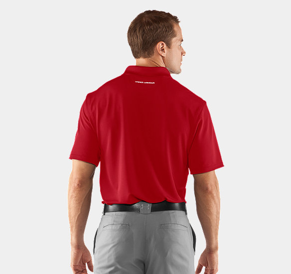 UNDER ARMOUR MEN PERFORMANCE POLO - REGULAR FIT RED