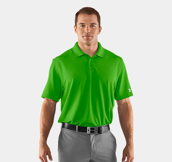 UNDER ARMOUR MEN CRESTABLE PERFORMANCE POLO PARROT GREEN