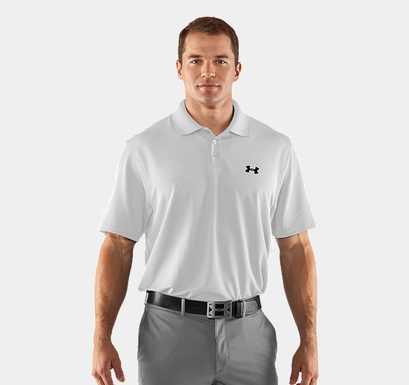UNDER ARMOUR MEN CRESTABLE PERFORMANCE POLO WHITE