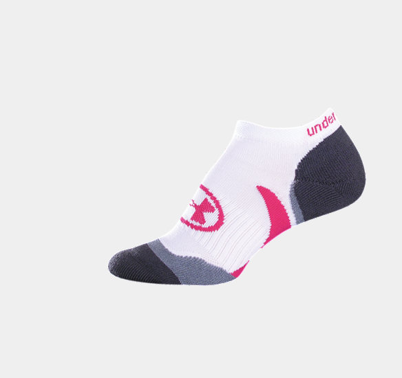 UNDER ARMOUR WOMEN CATALYST NO-SHOW SOCKS WHITE