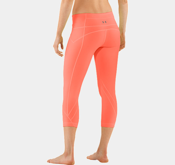 UNDER ARMOUR WOMEN STUDIO RAVE CAPRI ELECTRIC TANGERINE