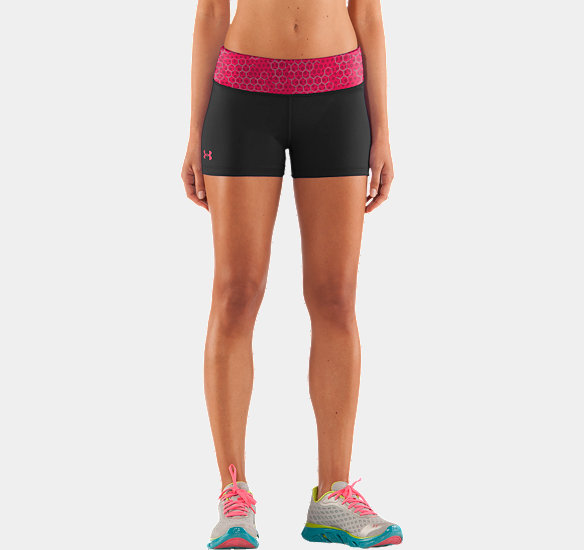"UNDER ARMOUR WOMEN HEATGEAR SONIC 2.5"" SHORTY BLACK"