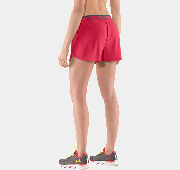 UNDER ARMOUR WOMEN PLAY UP SHORTS HIBISCUS