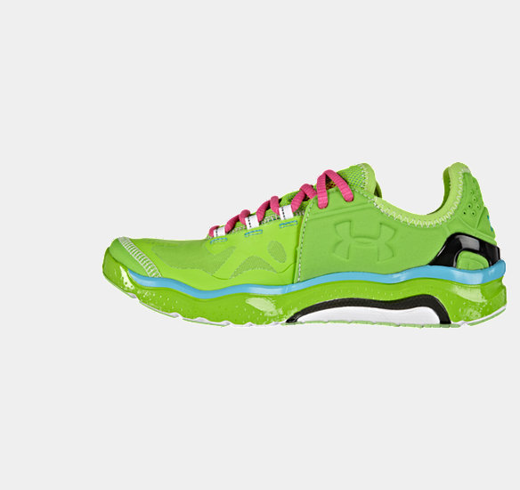 UNDER ARMOUR WOMEN CHARGE RC 2 RUNNING SHOE HYPER GREEN