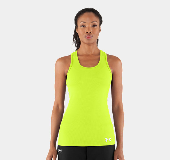 UNDER ARMOUR WOMEN VICTORY TANK TOP HIGH-VIS YELLOW