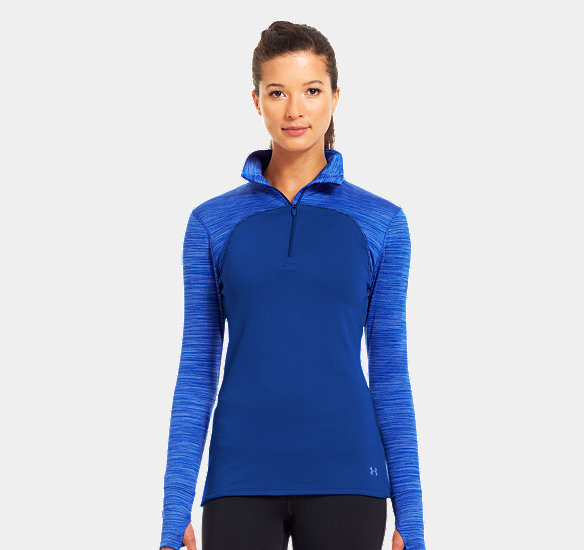 UNDER ARMOUR WOMEN PRINTED QUNDER ARMOURLIFIER  ZIP BLU-AWAY