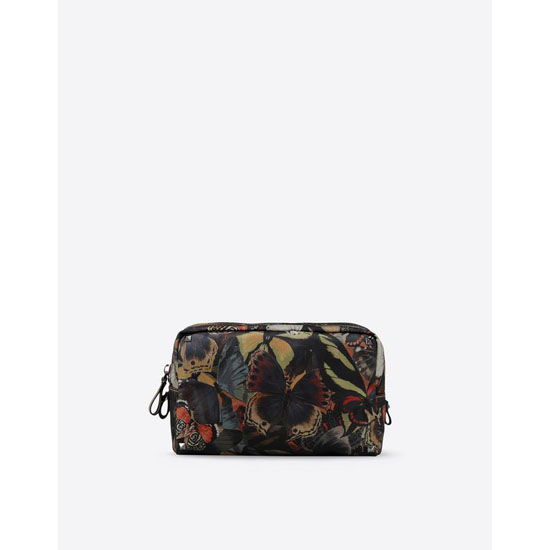 VALENTINO CAMUBUTTERFLY WASHBAG IY0P0534NCS Y20