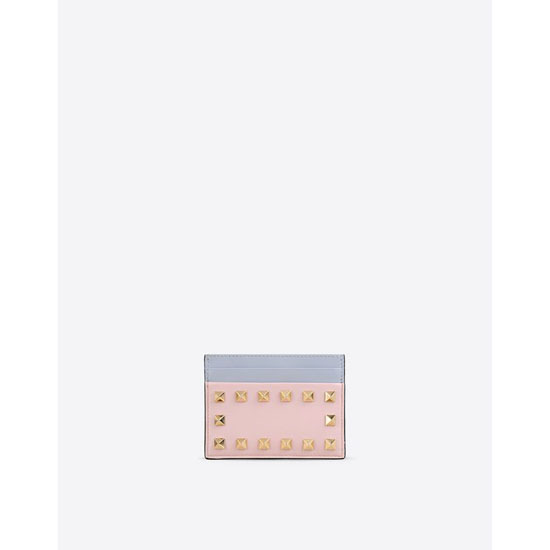 VALENTINO WATERCOLOR ROCKSTUD CARD CASE IW0P0486VDN 0AC