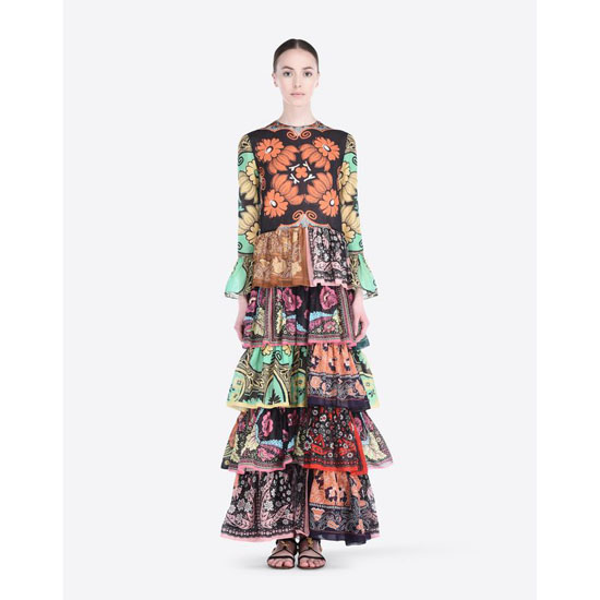 VALENTINO DRESS IN PATCHWORK COTTON MUSLIN IB0VA3151VY M40