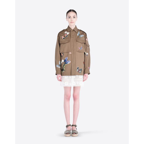 VALENTINO BUSH JACKET WITH EMBROIDERED BUTTERFLIES IBCCJ00A1LQ 825