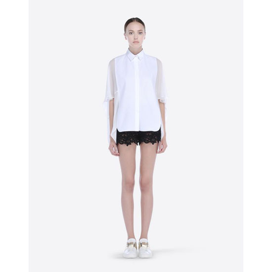 VALENTINO GUIPURE ARABESQUE SHORTS IB3RF0001MT 0NO