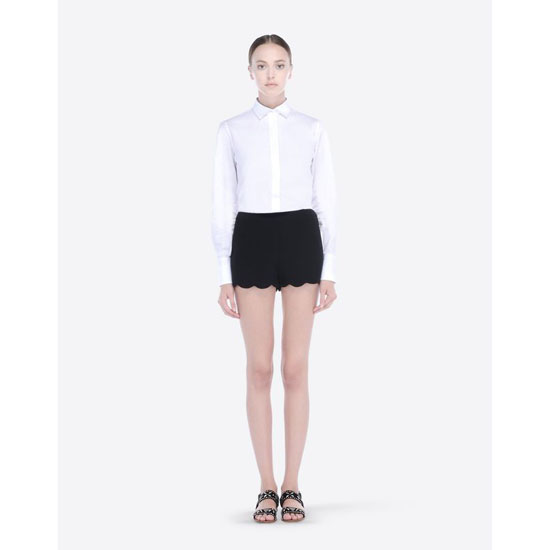 VALENTINO CADY SHORTS WITH SCALLOPED BOTTOM IB3RF0101MM 0NO