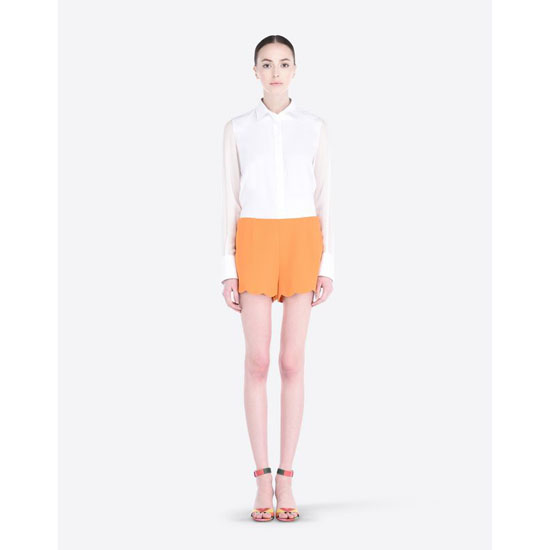 VALENTINO CADY SHORTS WITH SCALLOPED BOTTOM IB3RF0101MM 406