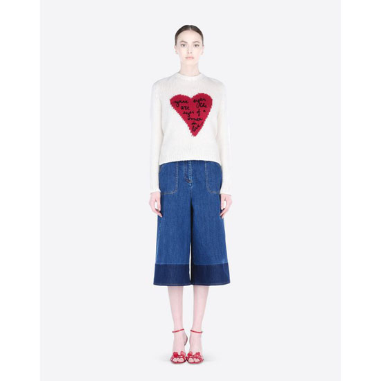 VALENTINO BERMUDA SHORTS IN TWO-COLOUR DENIM JB3DD01C1YF 600