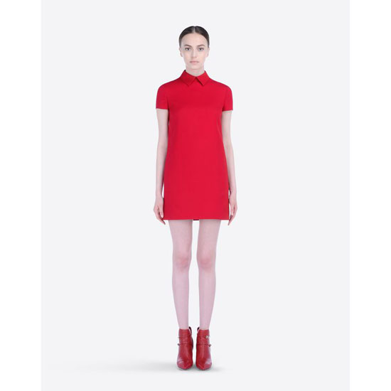 VALENTINO RED DRESS IN CREPE COUTURE HB2VS8P9-V12389B 217