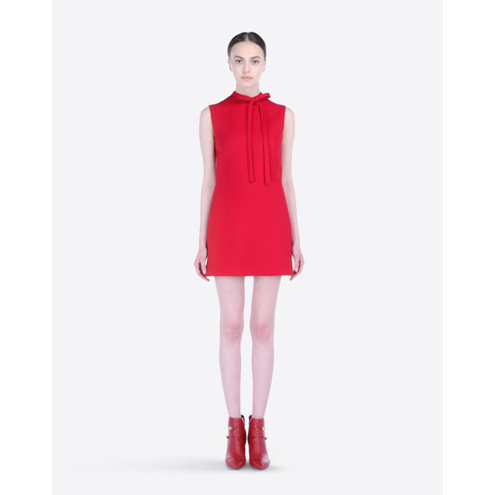 VALENTINO RED DRESS IN CREPE COUTURE HB2VS8P7-V12389B 217