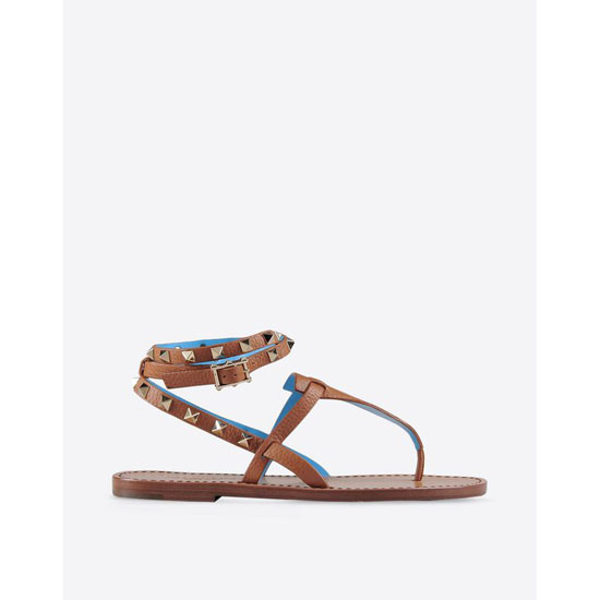 VALENTINO ROCKSTUD DOUBLE THONG SANDAL IW2S0534VGSP25