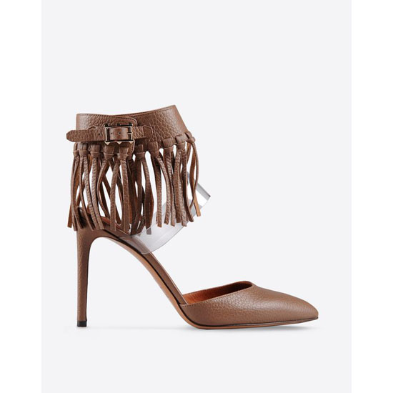 VALENTINO ANKLE STRAP WITH FRINGES IW2S0753VPA Y11