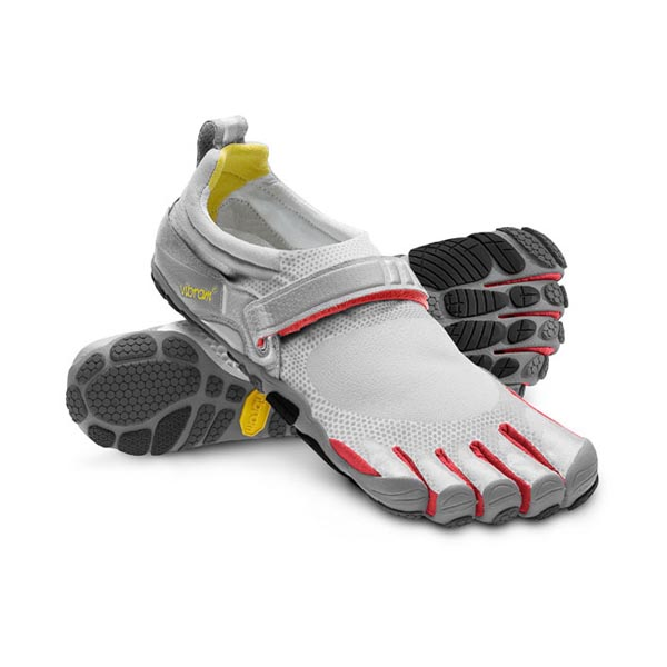 Vibram Five Fingers Men BIKILA Light Grey / Red / Grey