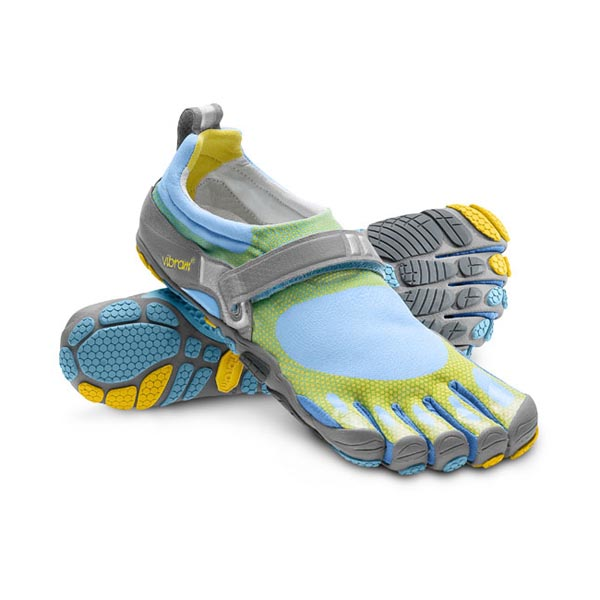 Vibram Five Fingers Men BIKILA Sky Blue / Yellow / Grey