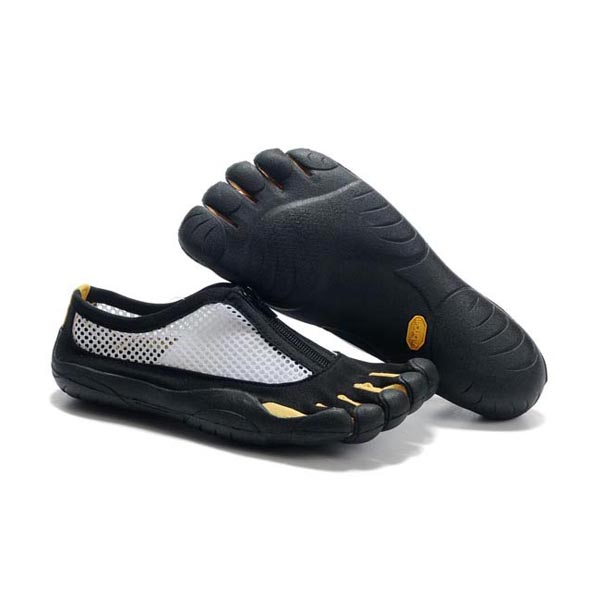Vibram Five Fingers Kso Zipper men shoes White Black