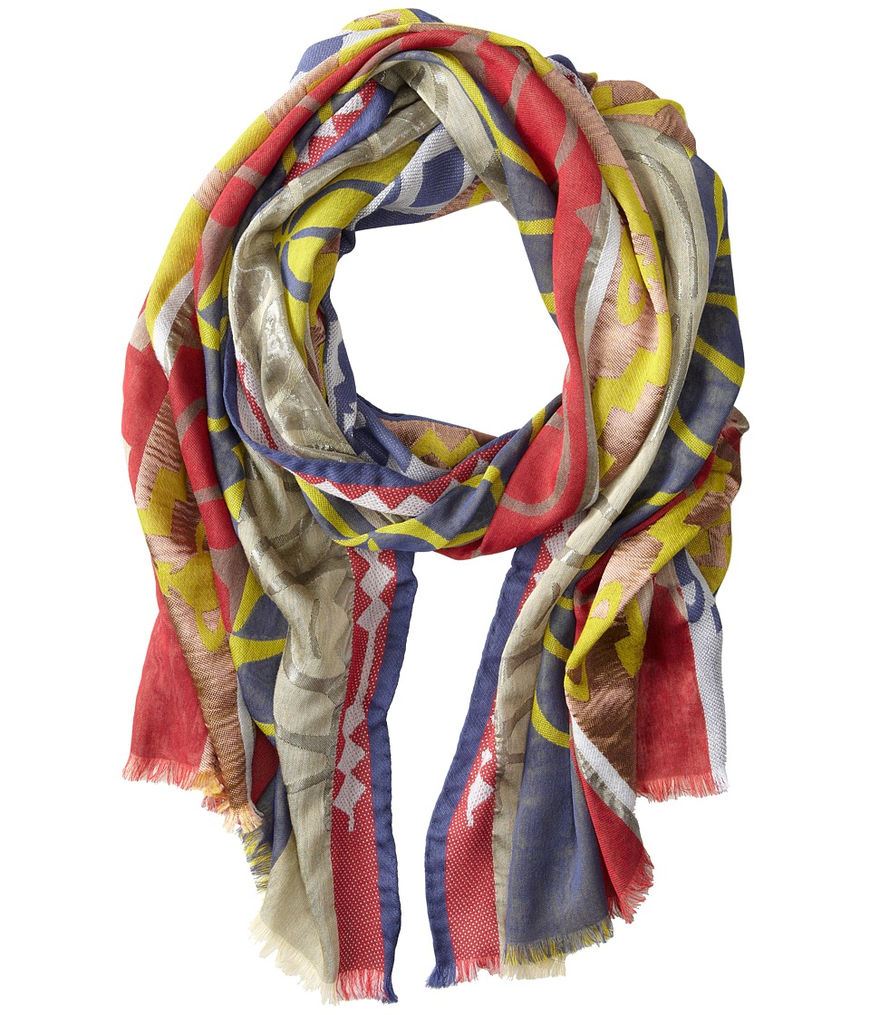 Vivienne Westwood Striped Graphic Print Scarf