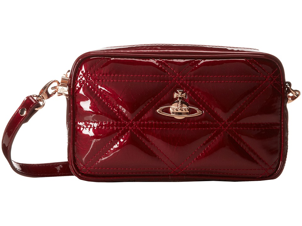 Vivienne Westwood Quilted Patent Logo Clutch
