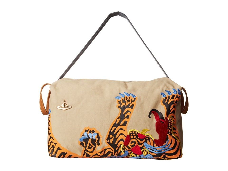 Vivienne Westwood Large Shopper with Tiger Print Embroidery