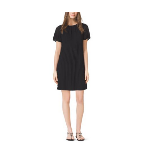 MICHAEL MICHAEL KORS Pleated Dress BLACK